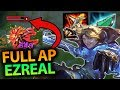 I FORGOT HOW INSANE THIS BURST IS! FULL AP EZREAL MID ONE SHOTS! - League of Legends