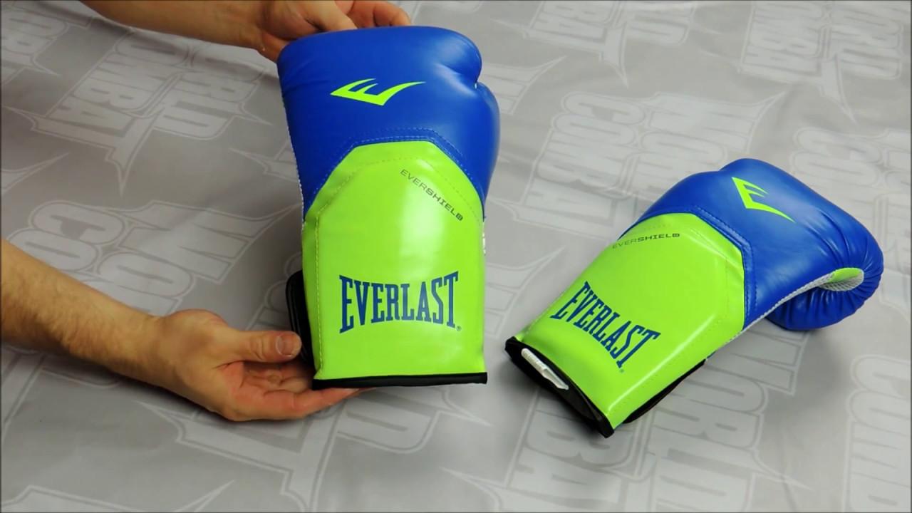 ce521cf6bcdba Luva Everlast Pro Style Elite - Azul e Verde - YouTube