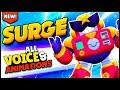NEW! BRAWLER SURGE Gameplay & All 35 Voice Lines - Brawl Stars Surge Gameplay
