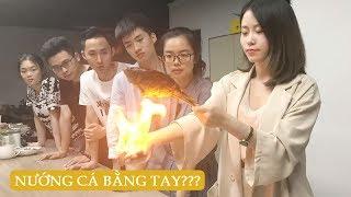 Thánh ăn công sở - Nướng cá bằng tay, lửa ở đâu ra vậy?