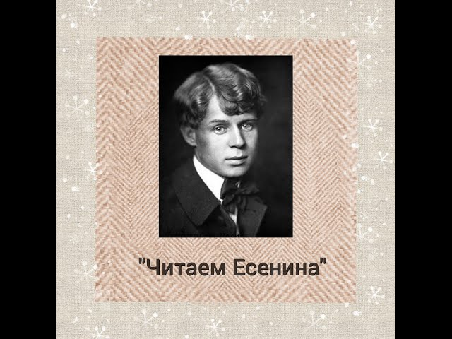 Изображение предпросмотра прочтения – КсенияСтовпец читает произведение «Я помню, любимая, помню» С.А.Есенина