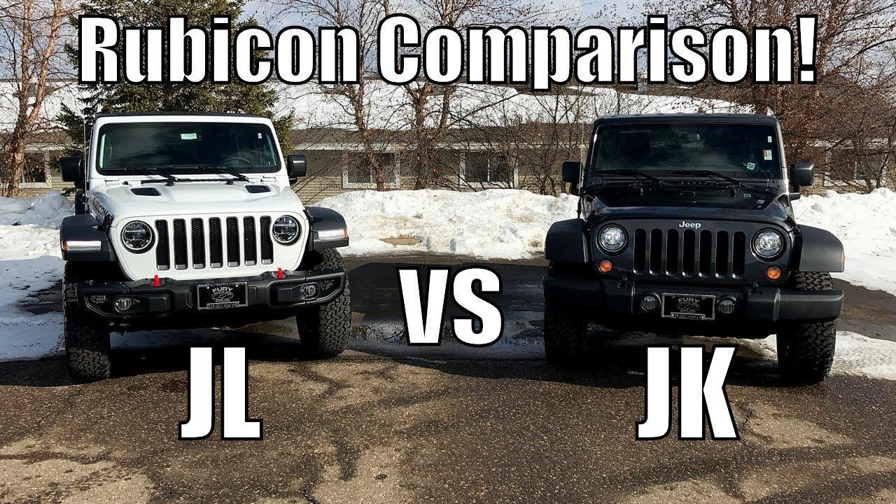 2018 Jeep Wrangler Rubicon Jl Vs Jk Comparison Youtube