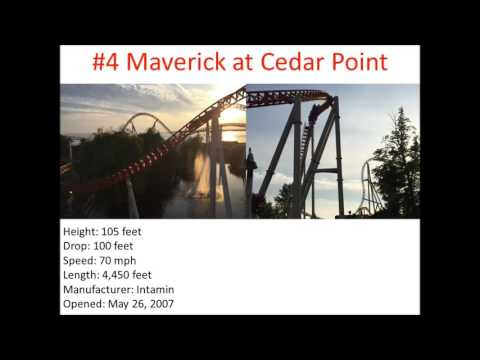 Top 10 Steel Coasters that I have been on (Fall 2015)