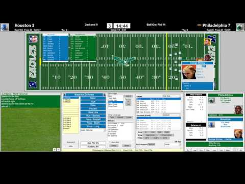 AFL/NFL 1960 Championship Bowl I 3rd Qrt Retro Game Style HOU Oilers vs PHI Eagles