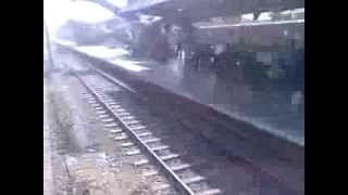 Duronto Express: Negotiating a huge curve and crossing Balasore at MPS..!!
