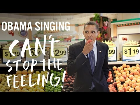 Barack Obama Singing Can't Stop The Feeling! by...