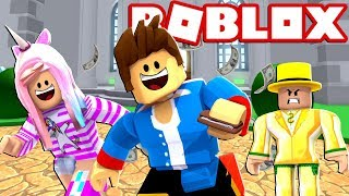 Stealing from the RICH... ROBLOX OBBY!!