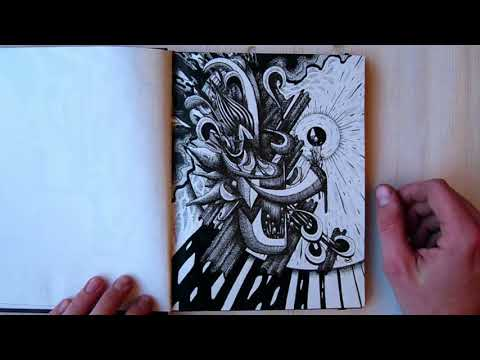 Flipping Through my Small Sketchbook (72 pages) & My Thoughts on Abstract Art [Part 1/2]