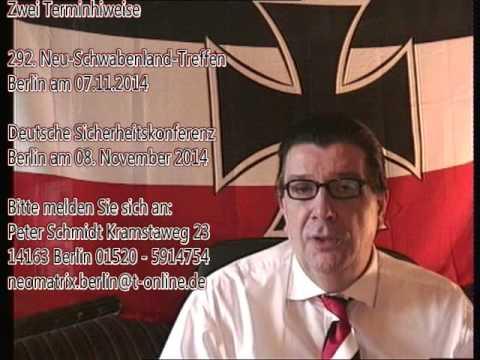 292. Treffen 7.11. + Deutsche Sicherheitskonferenz 8.11. in Berlin bitte anmelden PR