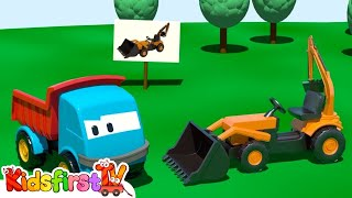 Kids 3d Construction Cartoons For Children 5: Leo The Truck Builds A Loader! {掘削機} грузовичок Лёва