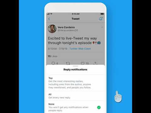 Twitter tests a new Notification Feature for replies to any Tweet