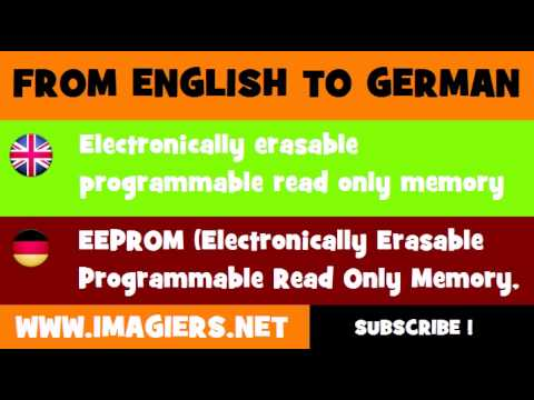 DEUTSCH ENGLISCH = EEPROM Electronically Erasable Programmable Read ...