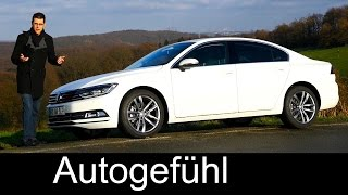 New Volkswagen VW Passat B8 FULL REVIEW test driven neu 2016 1.8 l 180 hp DSG Magotan