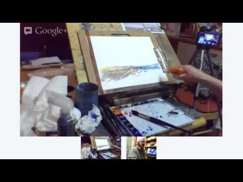 Painting Landscape in watercolor  from photo by John Robinson