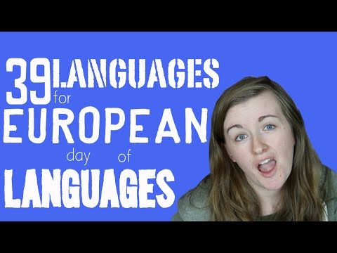 39 European Languages For European Day Of Languages!║Lindsay Does Languages Video