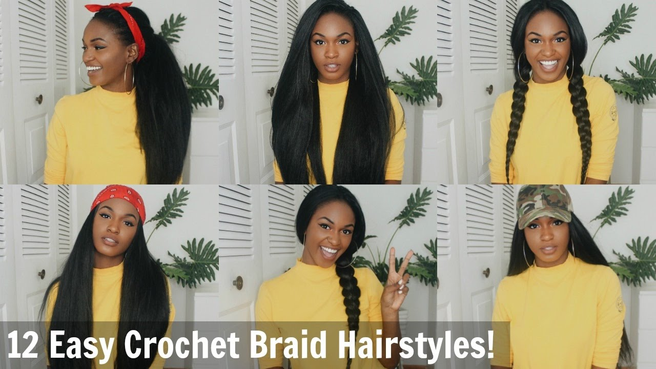 12 super easy straight crochet hairstyles! - outre x-pression dominican blowout