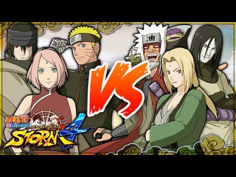 NARUTO SHIPPUDEN: Ultimate Ninja STORM 4 | Naruto, Sasuke & Sakura VS Jiraiya, Orochimaru & Tsunade