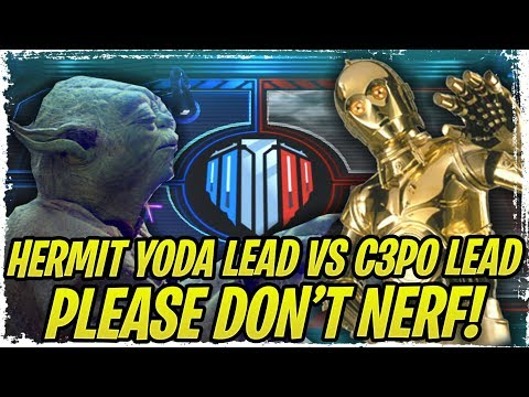 BROKEN GRAND ARENA TEAMS CG DOES NOT WANT YOU TO KNOW! Hermit Yoda Lead vs. C-3PO Lead! - SWGoH