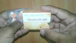 Vitamin D3 60K Chewable Tablet review vitamin D3 uses and benefits
