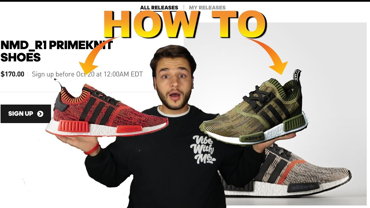 "e161d88e39177 HOW TO COP THE NMD R1 ""A.I. CAMO"" PACK - YouTube"