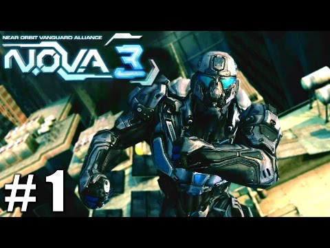 N.O.V.A. 3 - Near Orbit Vanguard Alliance - Gameplay Nvidia Shield Tablet Android 1080P Part 1