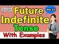 सीखें  Future Indefinite Tense with Examples   आसान तरीका हिंदी में   English series [ Day 11 ]