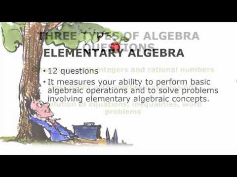 ACCUPLACER Elementary Algebra Review