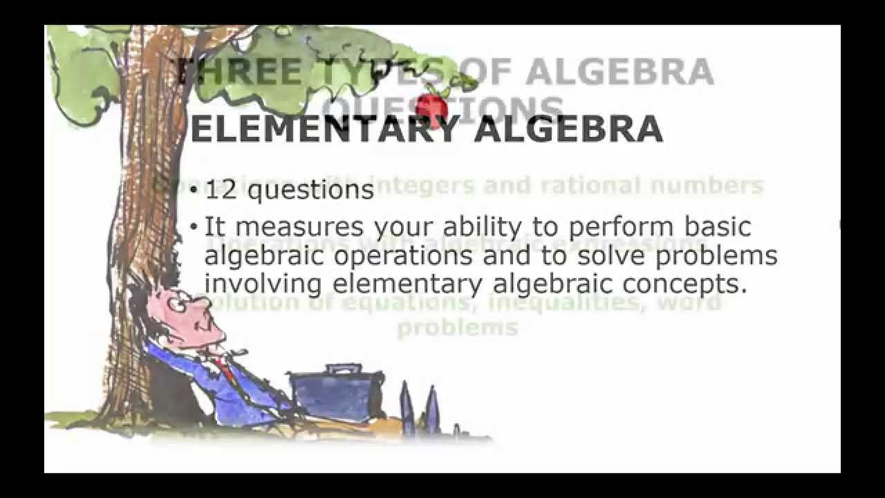 ACCUPLACER Elementary Algebra Review - YouTube