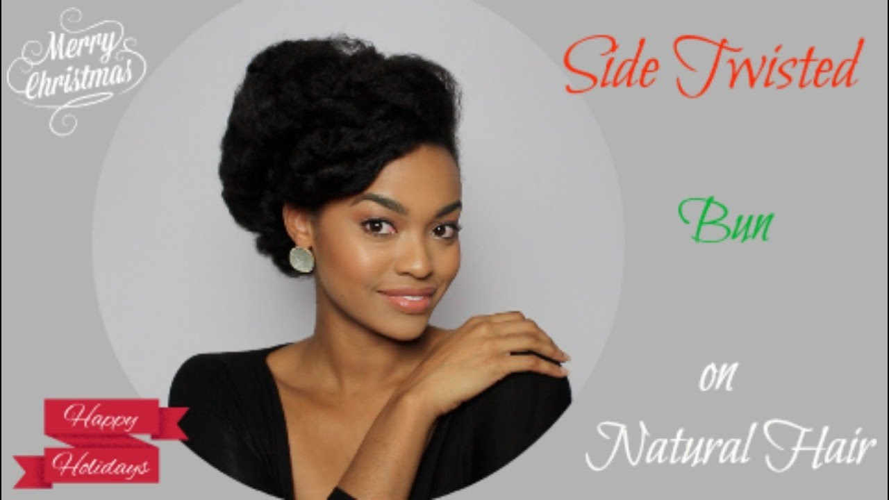Christmas Hairstyles For Black Hair.Side Twist Updo On Natural Hair Day 6 Of 12 Days Of Christmas Series