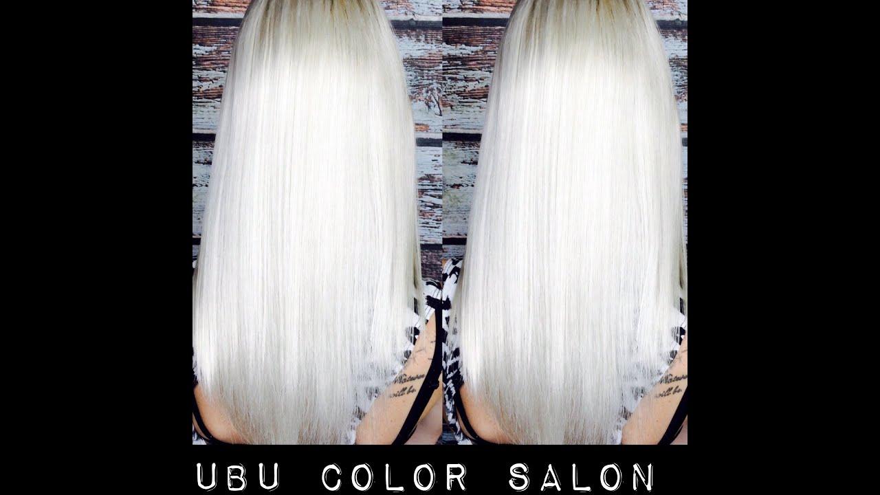 Platinum Blonde Hair Using Olaplex Youtube