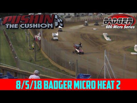 Angell Park Speedway - 8/5/18 - Badger Micro - Heat 2