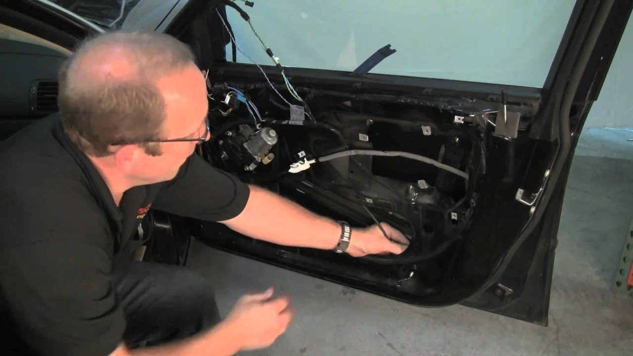 removing bmw door panel replacing window regulator youtube. Black Bedroom Furniture Sets. Home Design Ideas