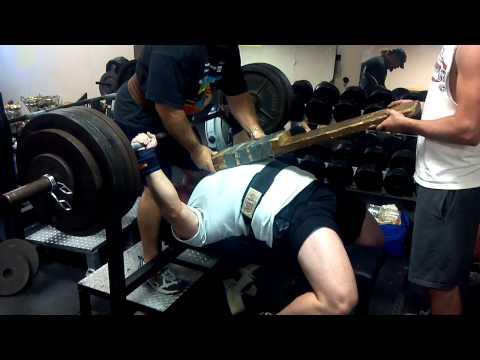 Justin Bethune RAW bench 485 x 3 2-board inside grip