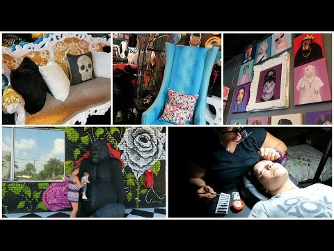 Funky Furniture Store + Getting Lash Extensions! April 3, 2017