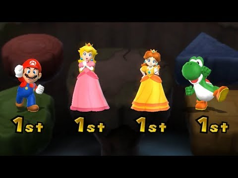 Mario Party 9 Boss Rush - Peach vs Mario vs Daisy vs Yoshi| Cartoons Mee