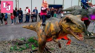 DINO EXPO XXL #2 │ Валерия на выставке динозавров!!!