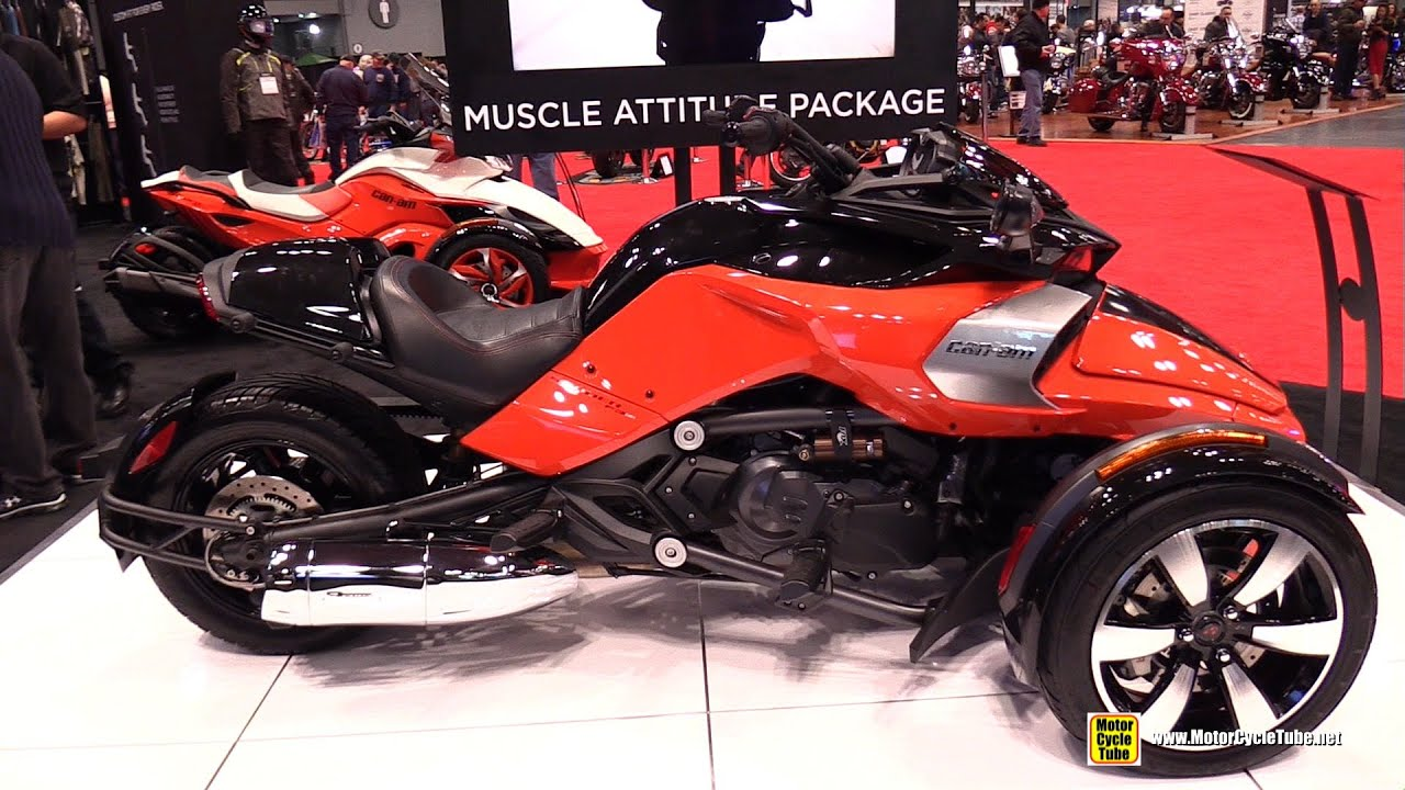 2015 can am spyder f3 s with muscle attitude package walkaround 2014 new york motorcycle. Black Bedroom Furniture Sets. Home Design Ideas