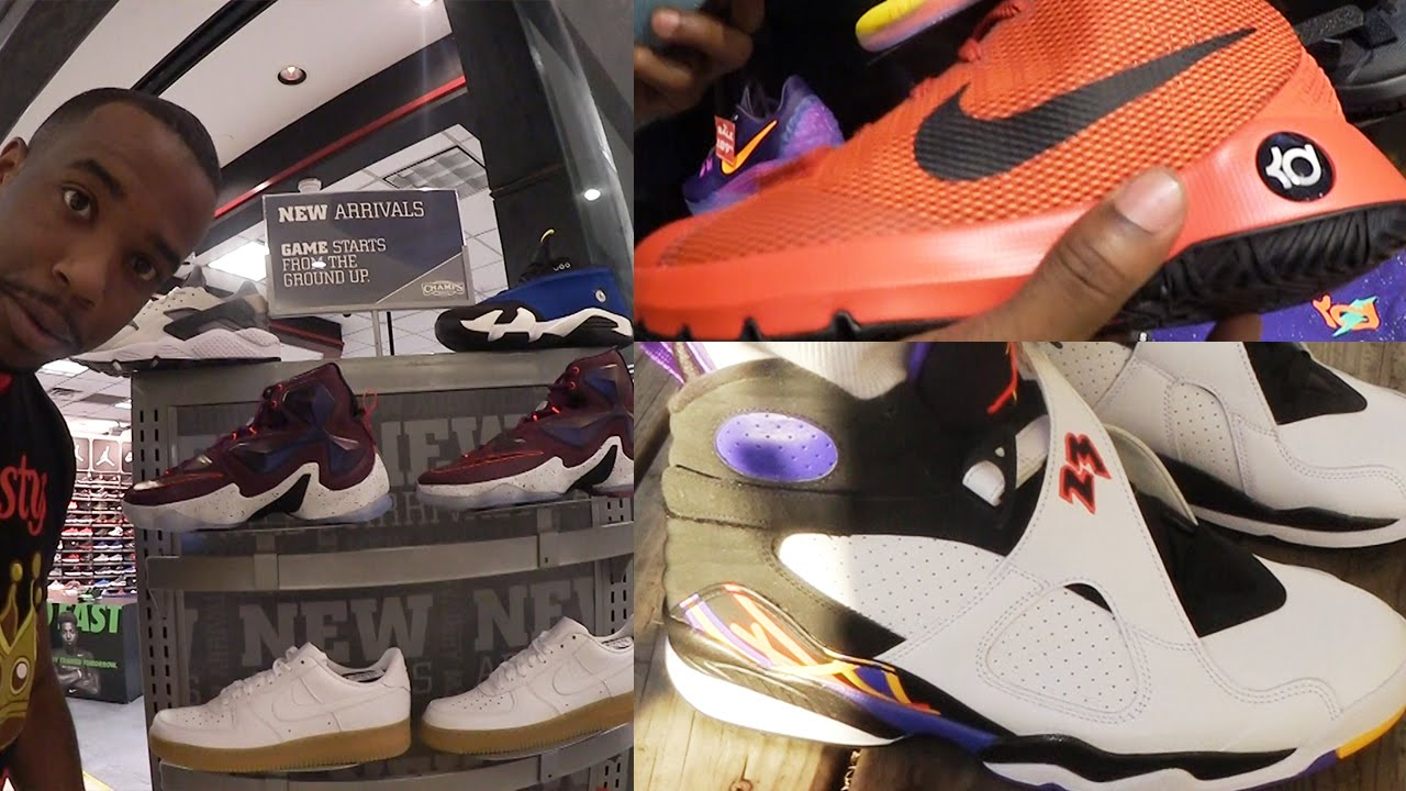 EARLY Air Jordan Retro 8's 3-Peats! SHOPPING IN MALL FOR SOME HEAT!  SneakerHead Vlog Ep.13 - YouTube