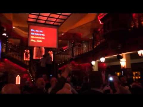 Manchester City fans sing Hey Jude in Barcelona Karaoke aft