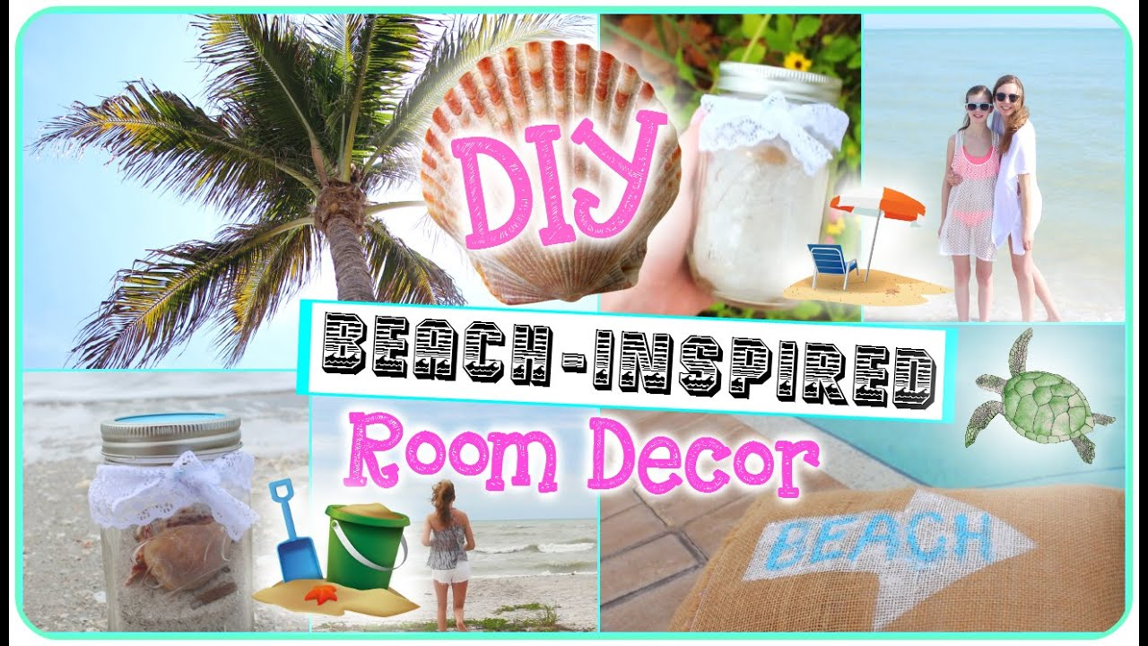 DIY BeachInspired Room Decor YouTube - Beach themed bedroom ideas pinterest