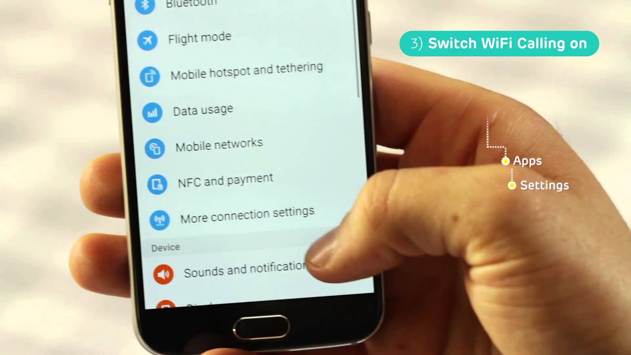 Setting up WiFi Calling on your Samsung Galaxy S6