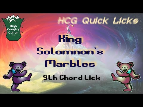 Quick Licks Jerry Garcia 9th Chord Lick King Solomons Marbles