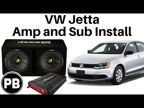 2011 - 2017 vw jetta sub and amp install to factory radio - youtube 2012 vw gti stereo wiring diagram  youtube