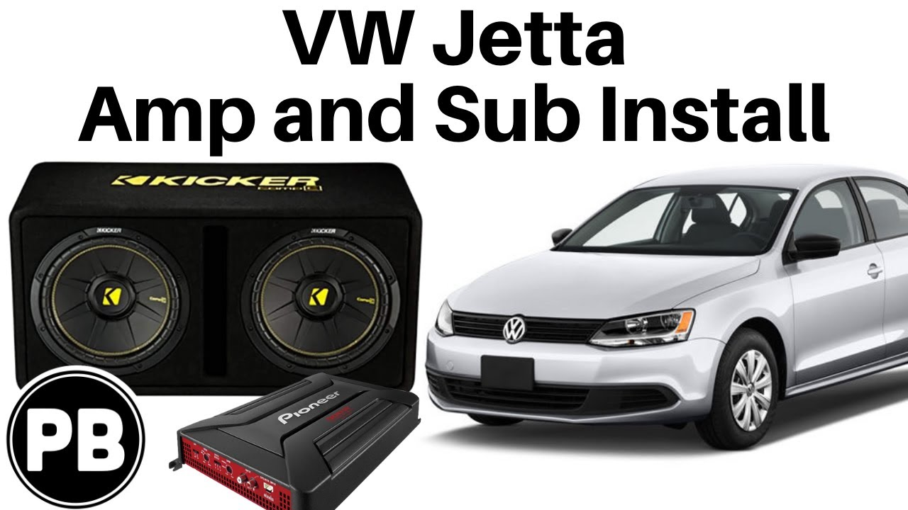 2011  2017 VW Jetta Sub and Amp install to Factory Radio