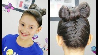 Upside Down Braid Hair Bow | Hairstyles for Girls | Cute Hairstyles