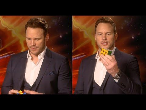 Chris Pratt Completes A Rubik's Cube In 3 Minutes...While Doing An Interview