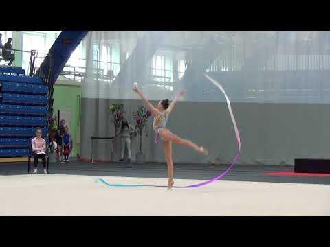 Adelina Beljaeva ribbon junior Eesti KV 2018