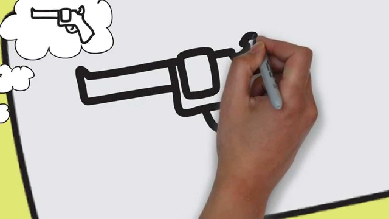 how to draw a gun step by step easy easy drawing for kids step by step 1 youtube - Easy Drawing Pictures For Kids