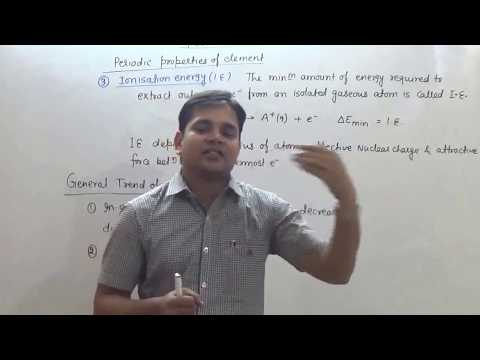 6. Periodic Table: Ionisation Energy (JEE Main + JEE Advanced + NEET + AIIMS)