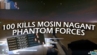 100 KILLS WITH THE MOSIN NAGANT IN ONE ROUND!! (ROBLOX Phantom Forces)